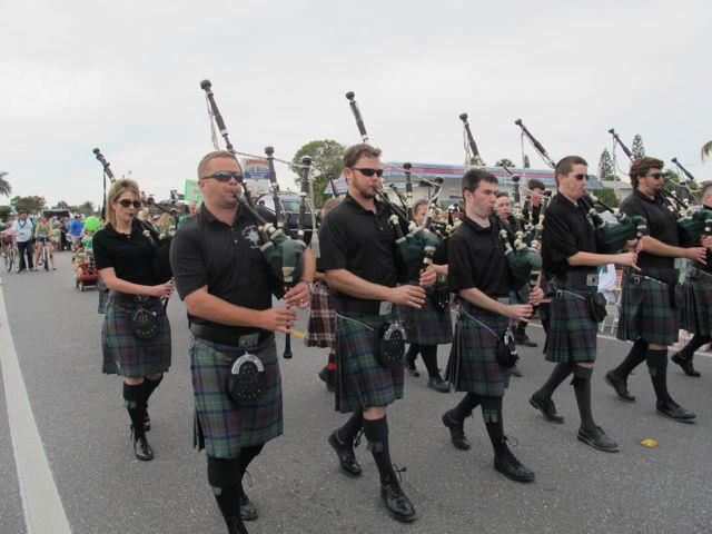 Beach Bistro's Annual St Patricks Day Parade on Anna Maria Island